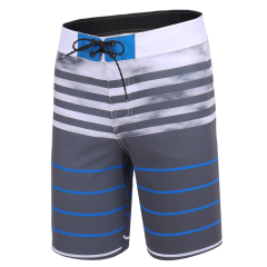 18 Men's Water Repellent Performance Classic Stripes Board Shorts